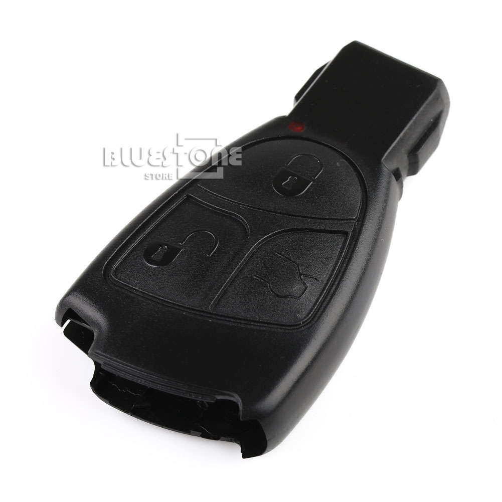 3 button pad remote key shell case cover holder fits for Mercedes benz smart key