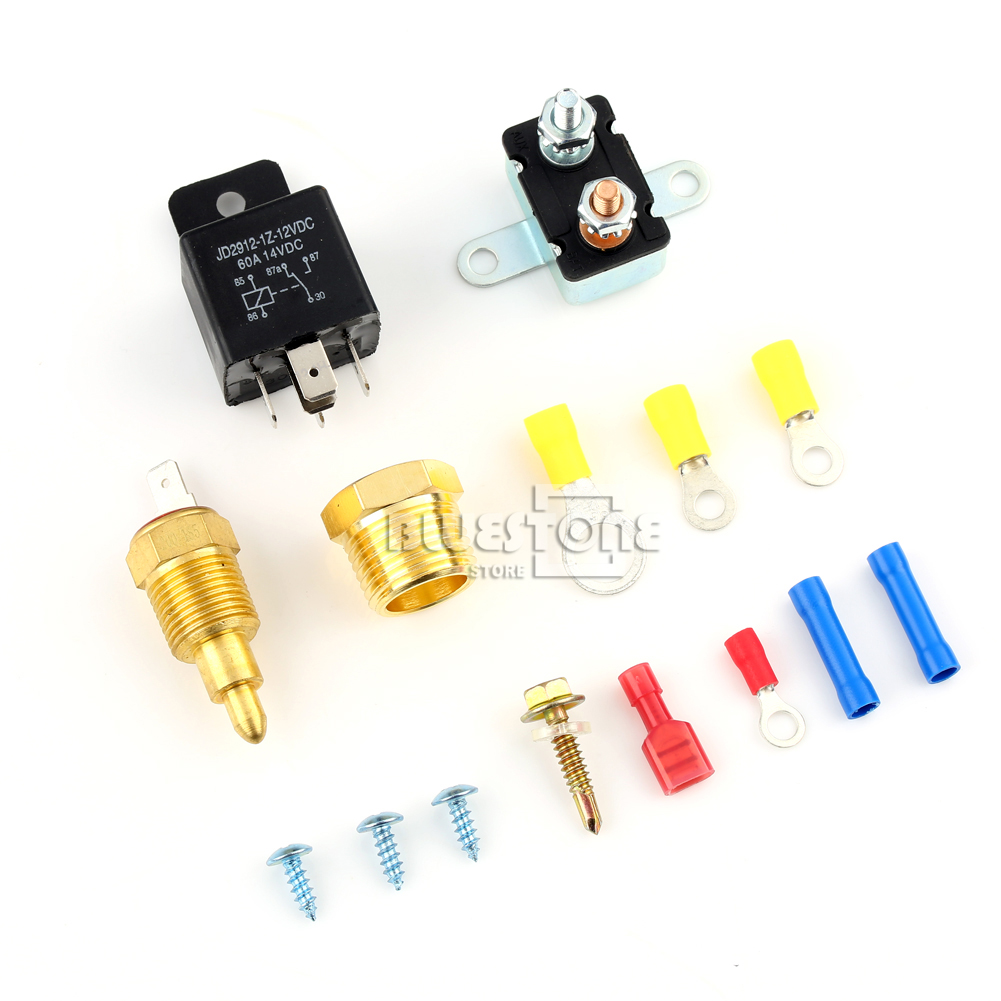 185 200 degree engine cooling fan thermostat temperature switch sensor relay kit ebay - Four 200 degres thermostat ...