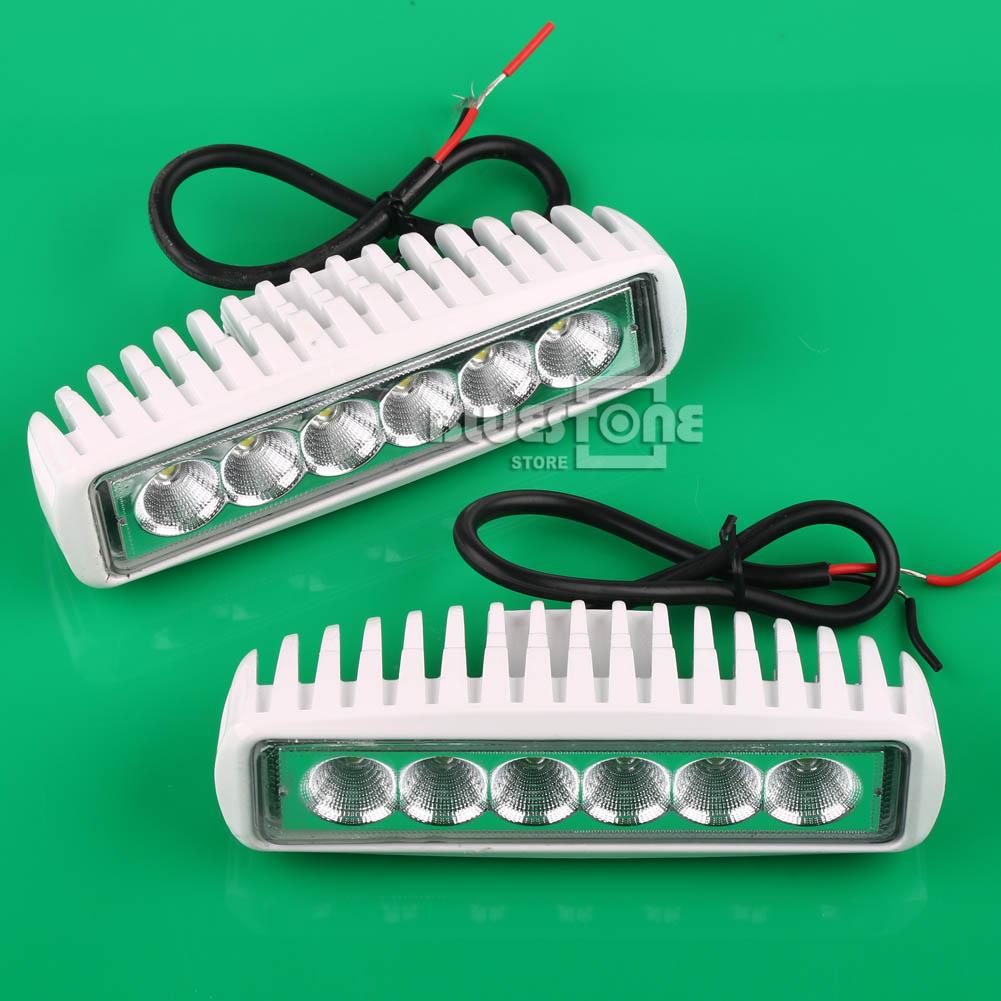 white spreader led marine lights set of 2 for boat flood light 12v ebay. Black Bedroom Furniture Sets. Home Design Ideas