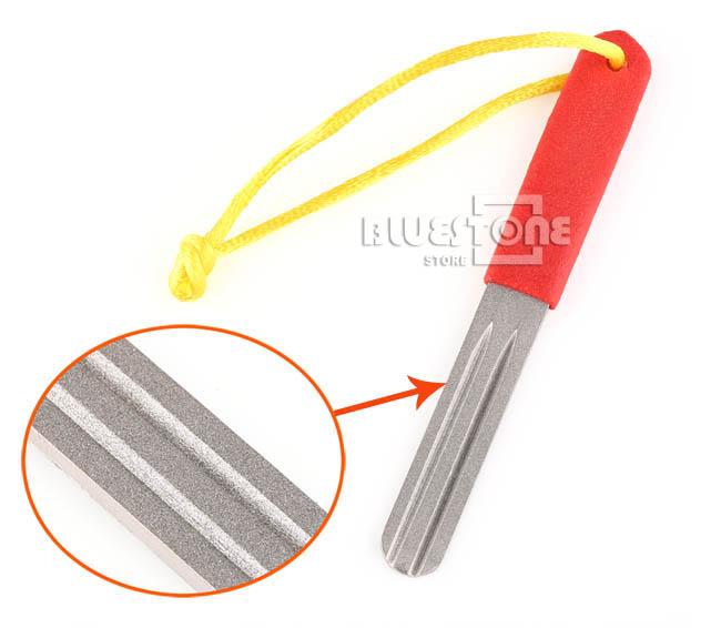 Fly fishing hook hone flie duul sharpening grooves for How to sharpen fishing hooks