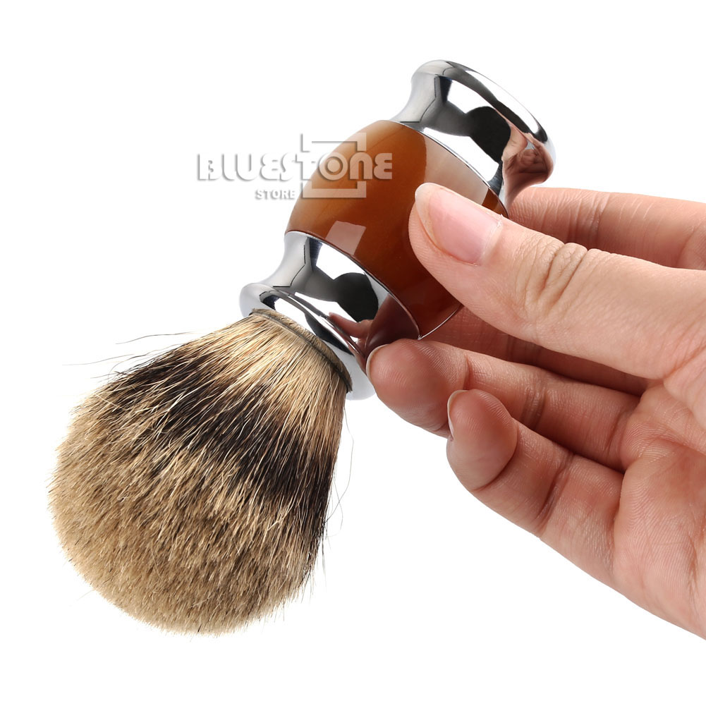 Mens Shaving Brush Razor Stand + Pure Silvertip Best Badger Hair Brush Set Gift | eBay