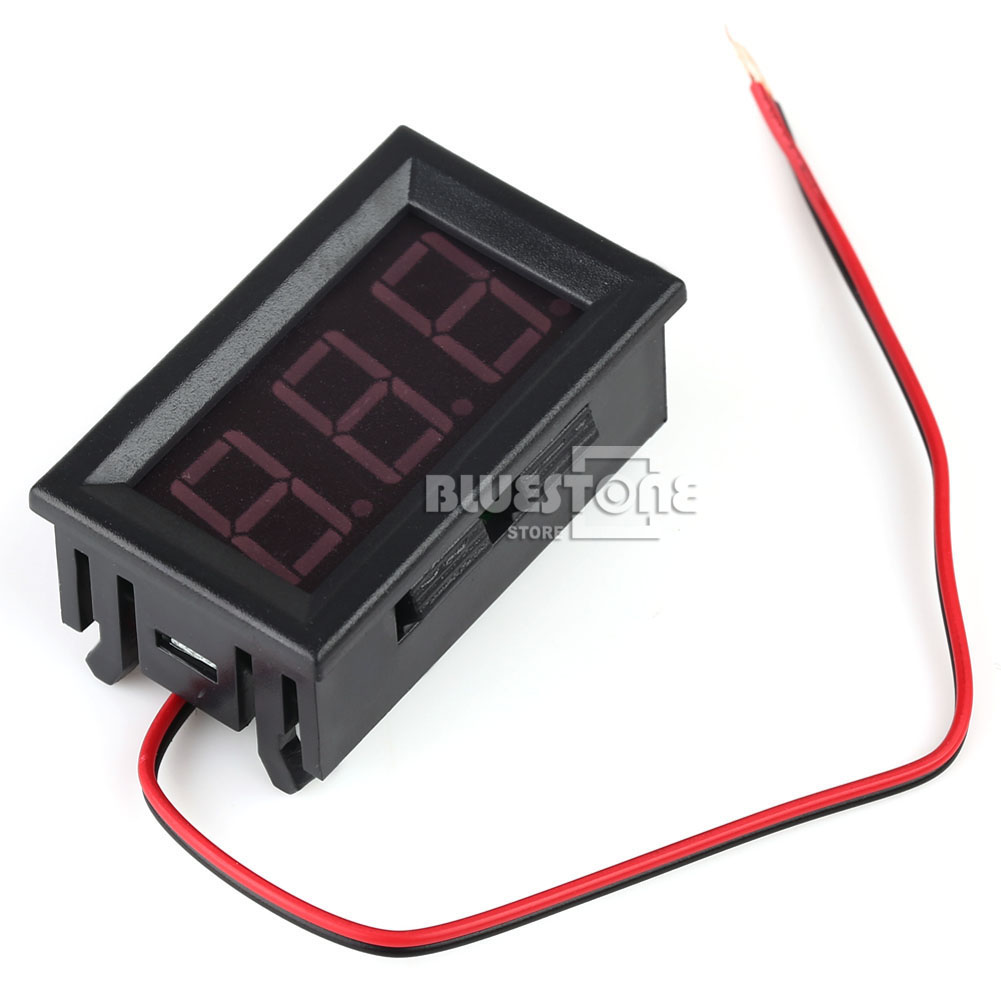 Dc Voltage Digital Panel Meters : Mini dc v voltmeter led panel digital display volt