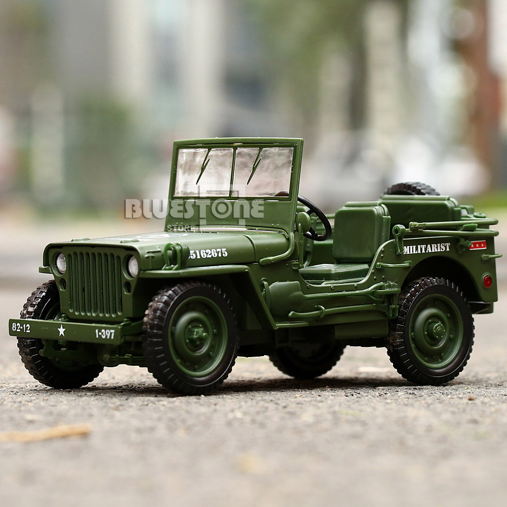 1:35 Scale Jeep Car Military US Army Force Vehicle Well