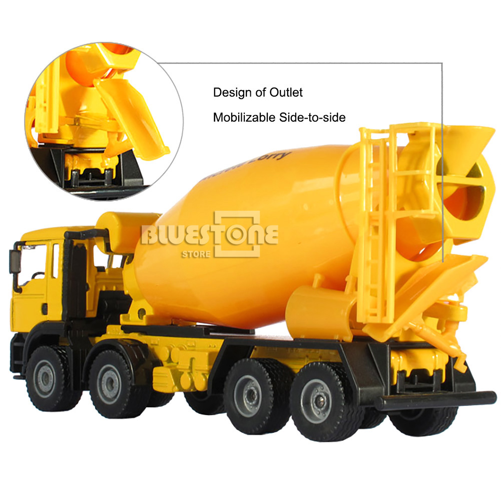 Mixer Truck Toy : Hugine alloy cement mixer truck construction vehicle