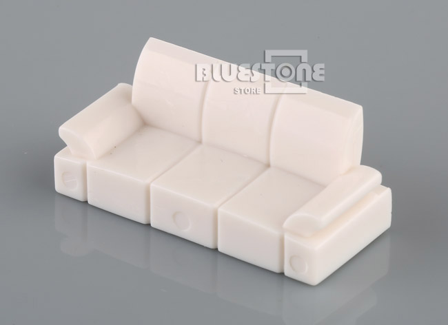 White Plastic Sofa Set Model 1 50 O Scale Dolls House