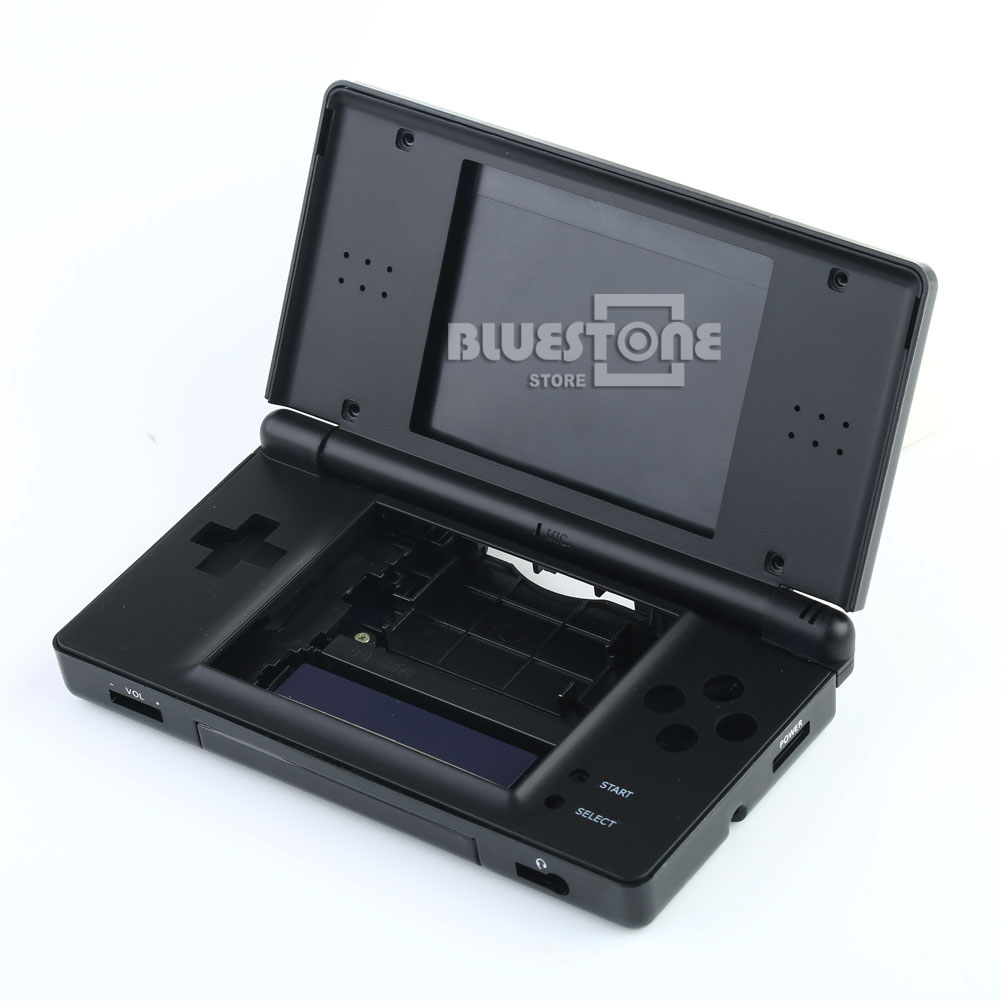 black replacement housing shell for nintendo ds lite ndsl full repair part case ebay. Black Bedroom Furniture Sets. Home Design Ideas