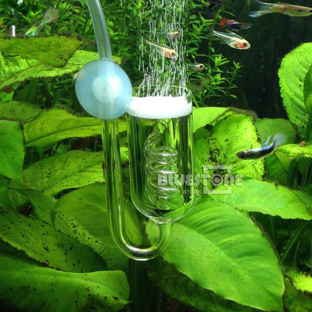 Aquarium Tank Spiral Co2 Diffuser Glass Ceramic Tube
