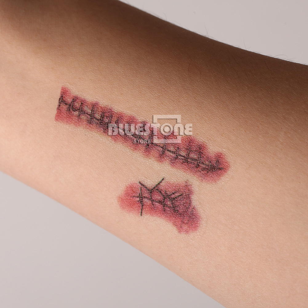 20pcs zombie scars tattoos fake scab blood costume makeup for Fake wound tattoos