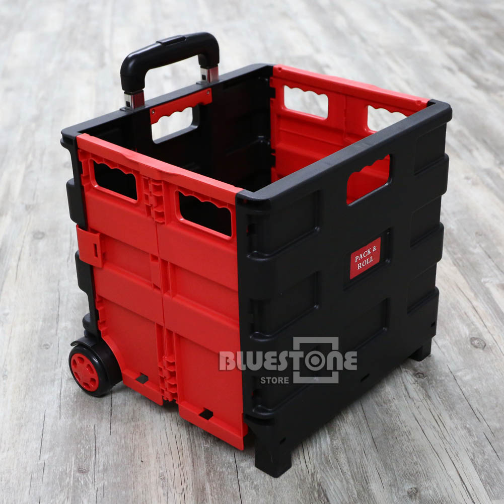 Folding Shopping Trolley Storage Boot Cart Box Crate Car
