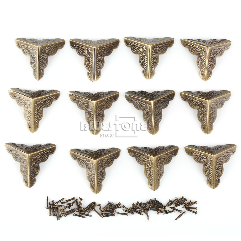 12pcs Antique Iron Corner Protector Guard for Jewelry Wine Gift Box Wooden Case 7 • £1.58