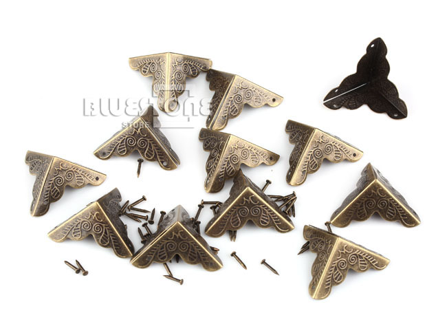12pcs Antique Iron Corner Protector Guard for Jewelry Wine Gift Box Wooden Case 3 • £1.58