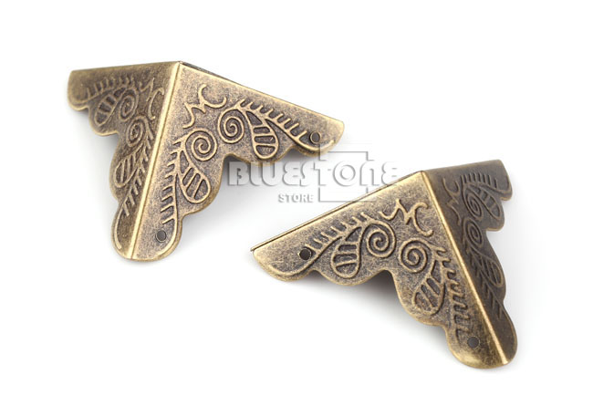 12pcs Antique Iron Corner Protector Guard for Jewelry Wine Gift Box Wooden Case 4 • £1.58