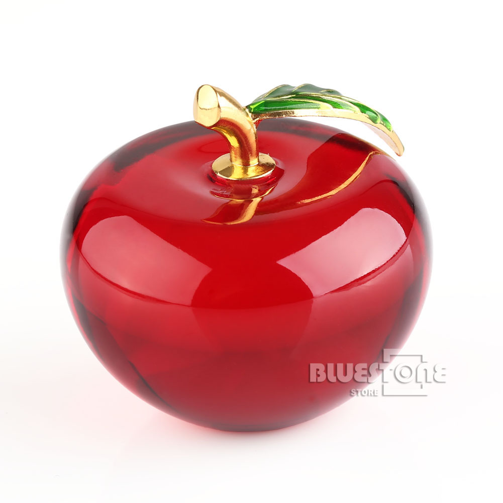 60mm 3d crystal glass apple paperweight home decorations for Home decorations on ebay