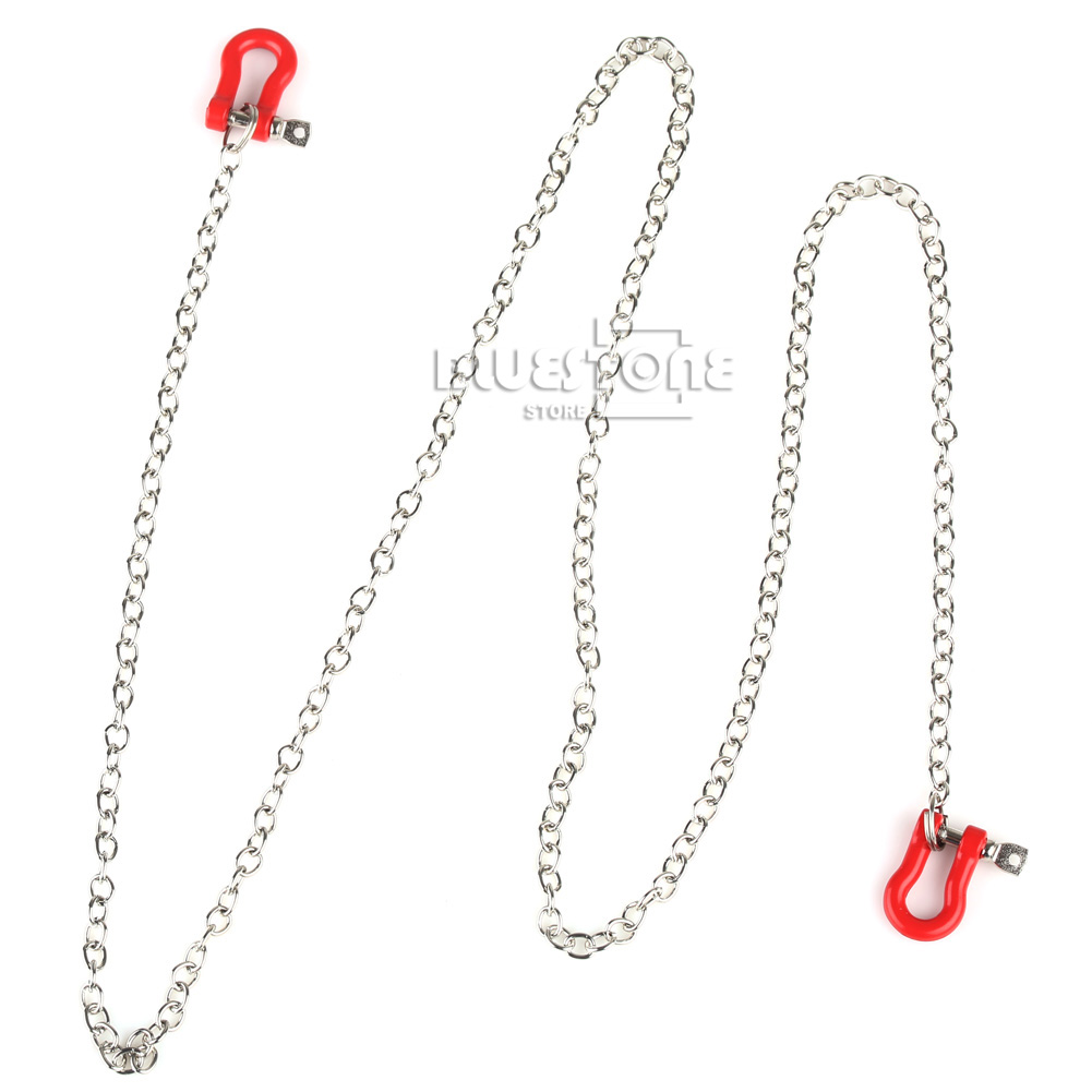 1 10 scale chain with shackles   red   890mm long rc