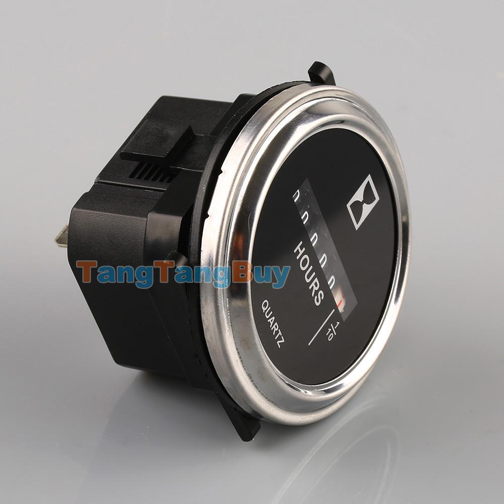 7 2 Volt Hour Meters : Quot round quartz hour meter ac dc v gauge for boat car
