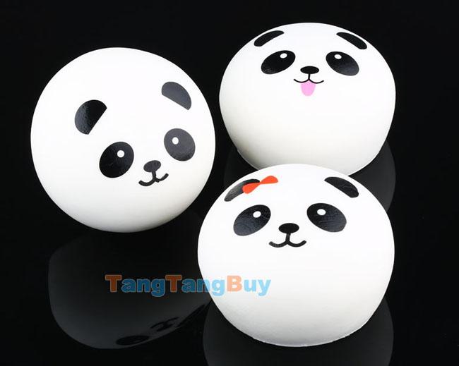 Super Squishy Panda Bun : 1pc Jumbo Panda Dim Sum Steamed Bun Super Squishy Pink Red Bow Random Style eBay