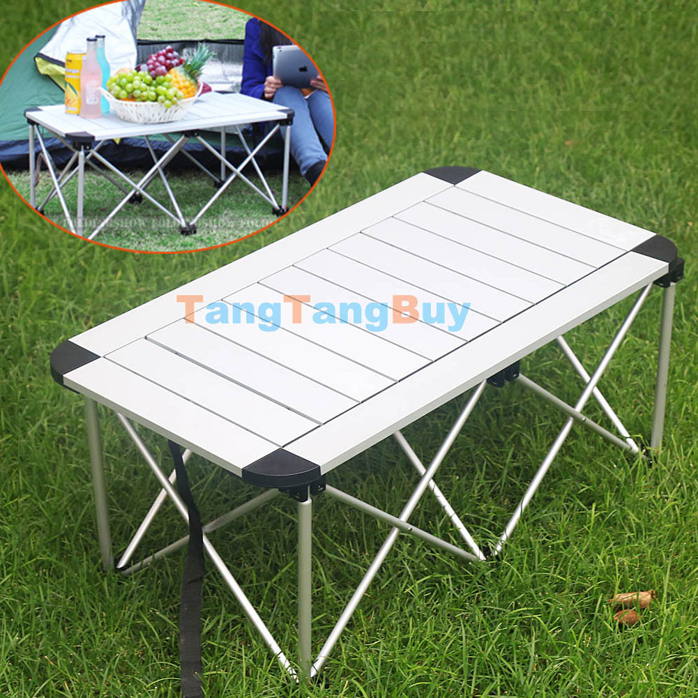 collapsible low folding table portable lightweight travel. Black Bedroom Furniture Sets. Home Design Ideas