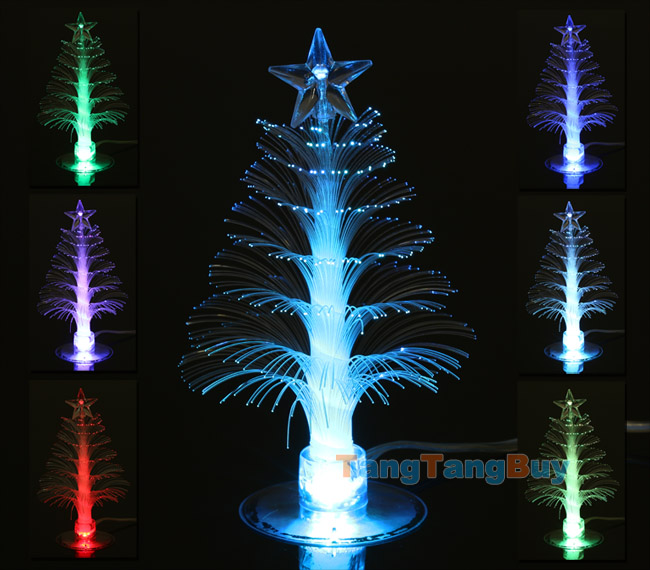usb color changing fiber optical led light christmas xmas tree lamp decoration ebay. Black Bedroom Furniture Sets. Home Design Ideas
