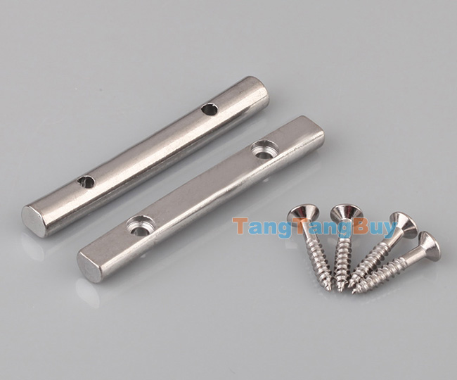 2 x electric guitar string retainer bar metal silver 4 mounting screws ebay. Black Bedroom Furniture Sets. Home Design Ideas