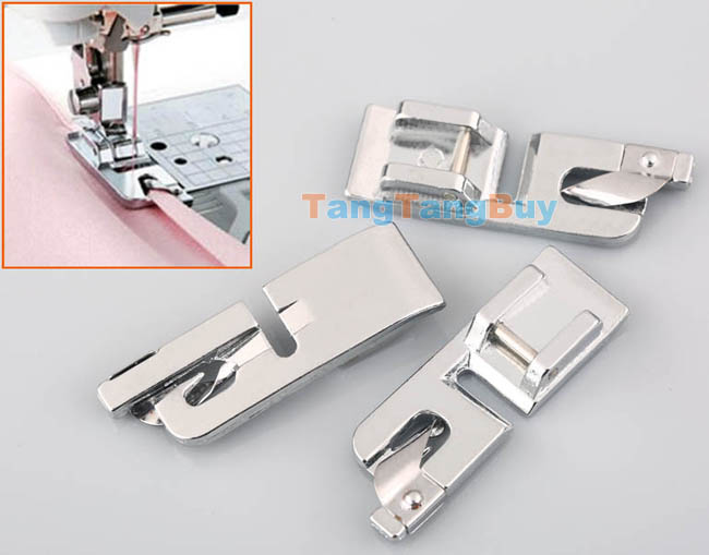3x rolled hem curling presser foot feet for sewing machine for Euro pro craft n sew