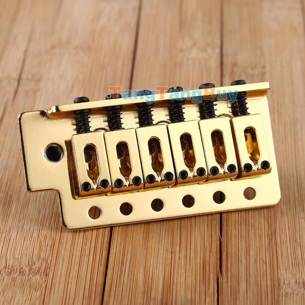 gold electric guitar tremolo bridge single locking system for strat st style ebay. Black Bedroom Furniture Sets. Home Design Ideas
