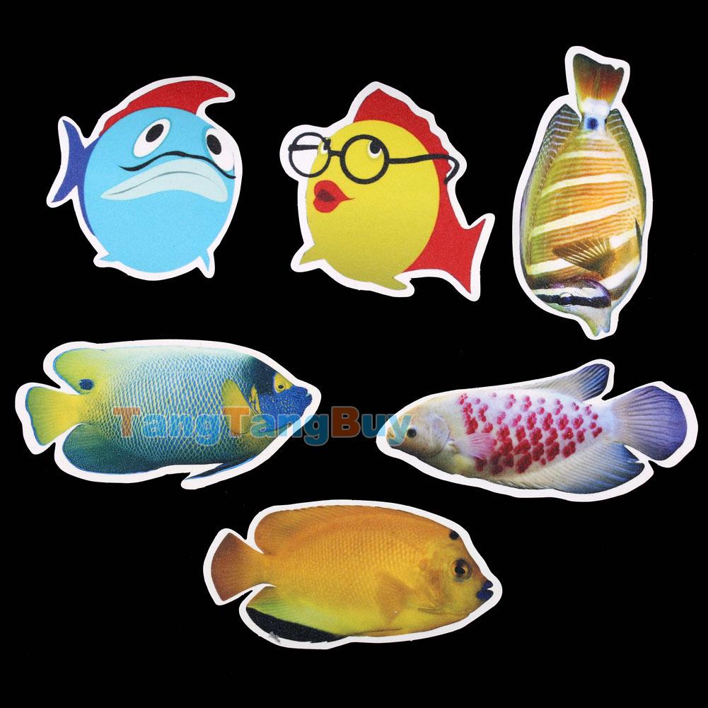 Bath Tub Shower Stickers Cartoon Fish Decals Treads Non