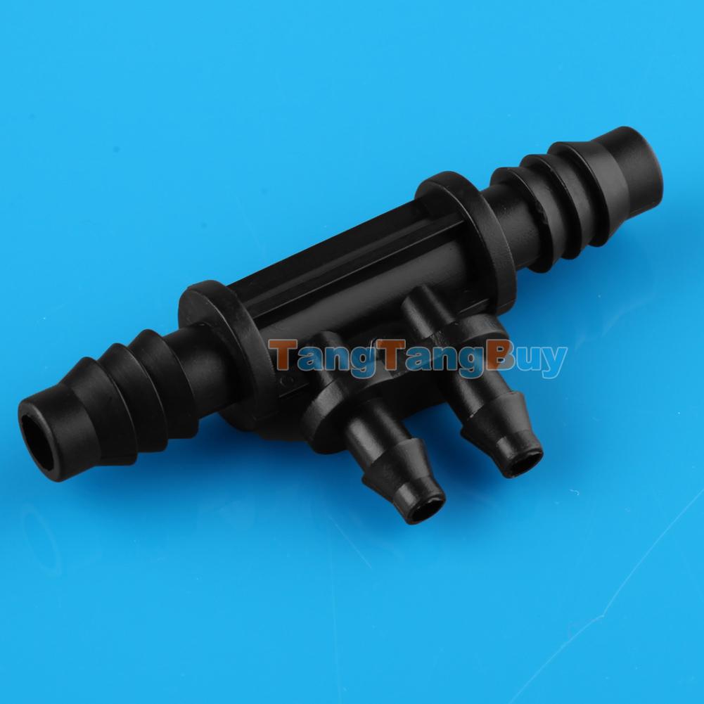 Pcs mm quot micro irrigation nozzle drip tee barb