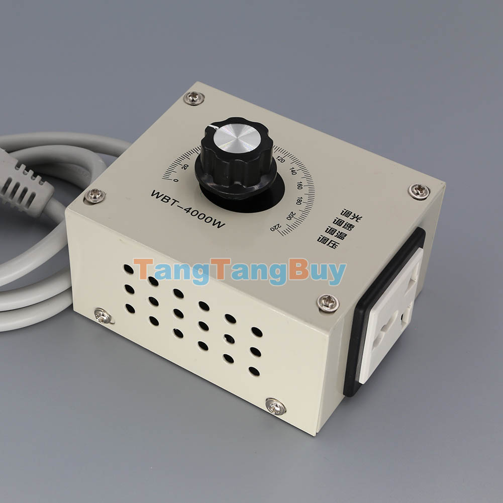 4000w ac 220v variable voltage controller for fan speed for Two speed motor control