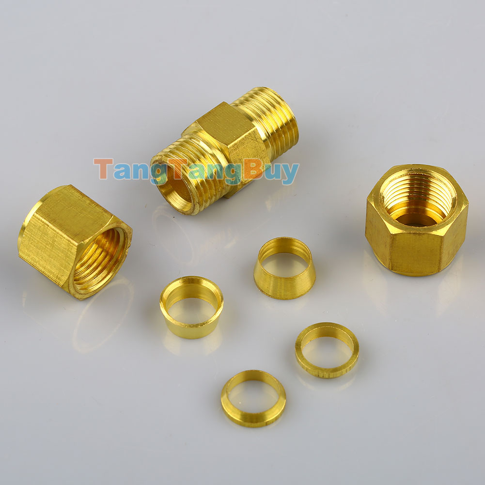 Brass fittings compression od air pro